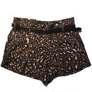 Forever 21 Leopard print shorts with Black Belt